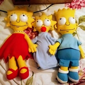 Simpsons soft dolls 1990